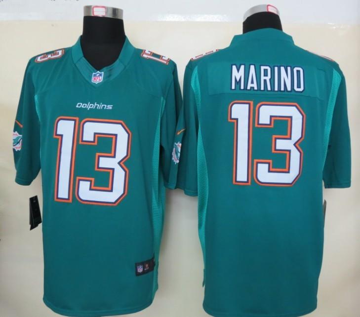 Miami Dolphins 13 Marino Green Nike Limited Jerseys