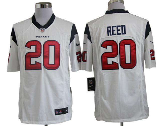 Houston Texans 20 Ed Reed White Nike Game Jerseys