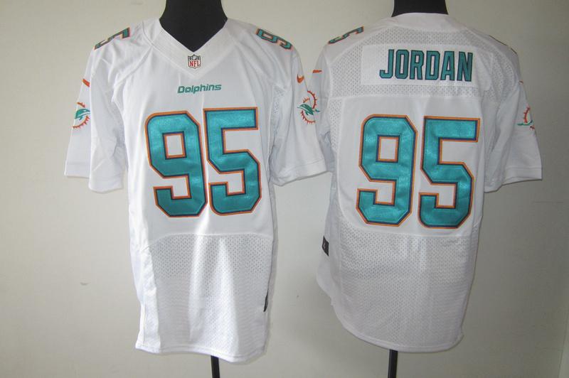 Miami Dolphins 95 Jordan White Nike Elite Jerseys