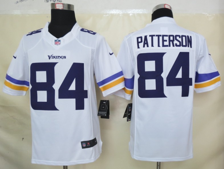 Minnesota Vikings 84 Patterson White Nike Limited Jerseys
