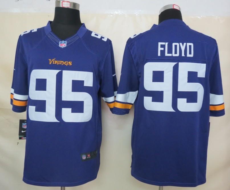 Minnesota Vikings 95 Floyd Purple Nike Limited Jerseys