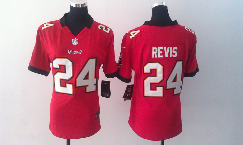 Womens Tampa Bay Buccaneers 24 Revis Red Nike Jerseys
