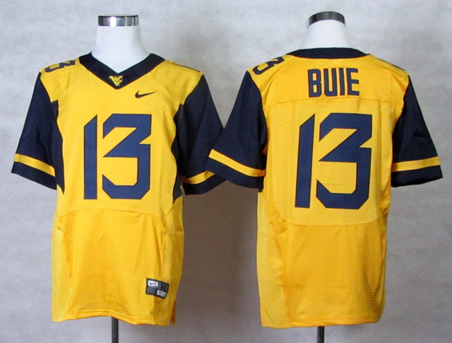 NCAA West Virginia Mountaineers 13 Andrew Buie Gold College Football Elite Jerseys