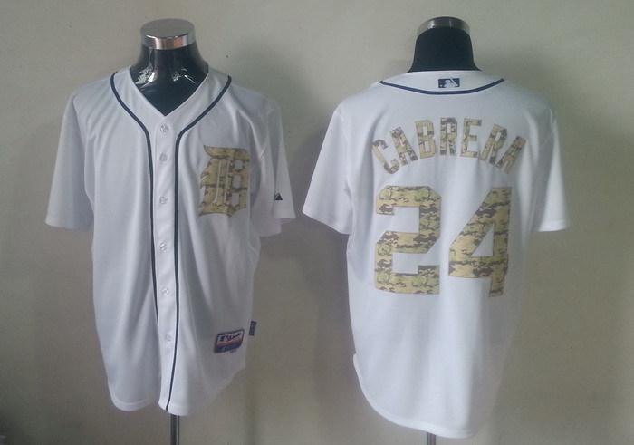 MLB Detroit Tigers 24 Miguel Cabrera Camo Jerseys