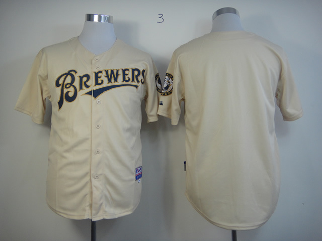 MLB Milwaukee Brewers Blank Blank YOUniform Cool Base Jersey