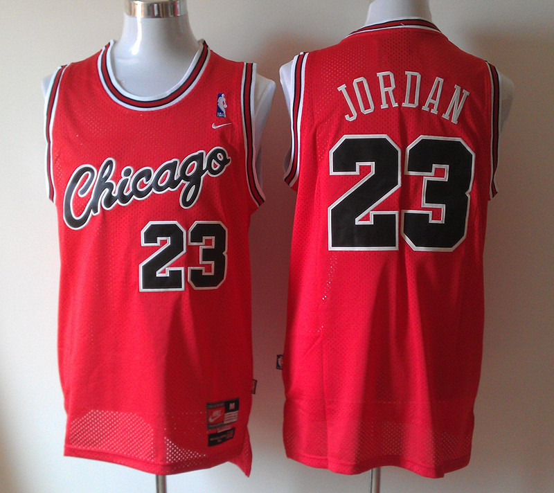 NBA Chicago Bulls 23 Michael Jordan Red Jersey