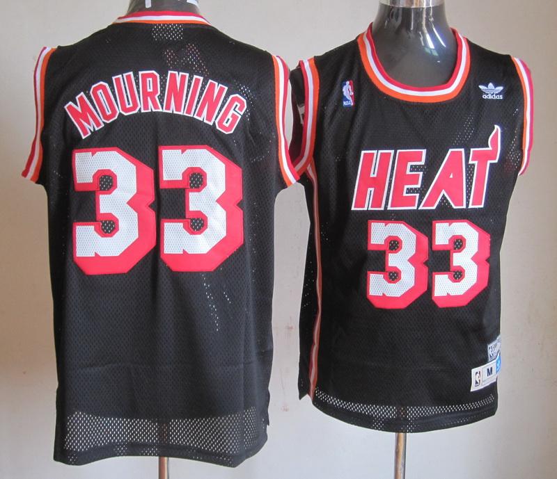 NBA Miami Heat 33 Wade Mourning Black Jersey