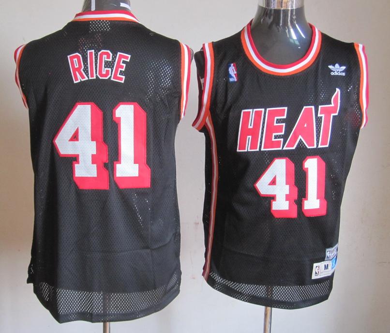 NBA Miami Heat 41 Rice Black Jersey