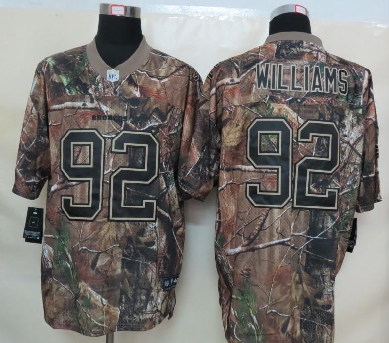 Denver Broncos 92 Williams Camo Nike Elite Jerseys