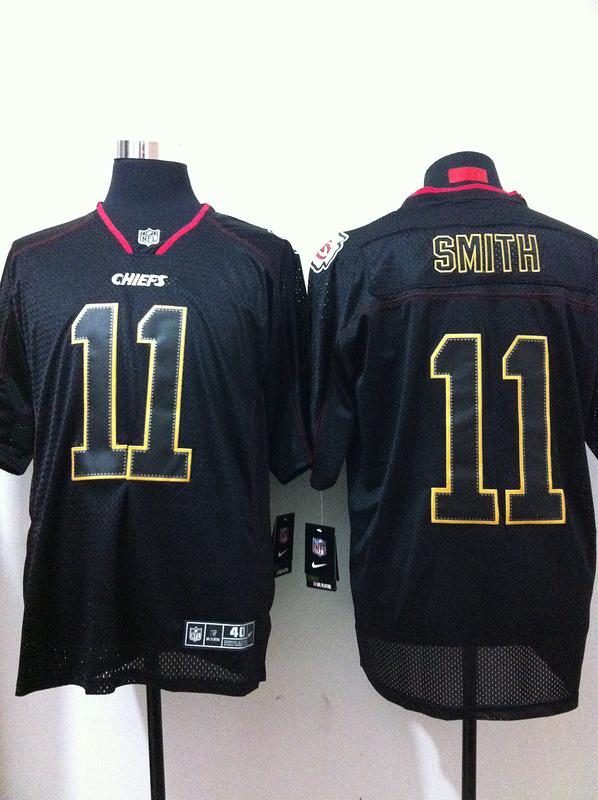 Kansas City Chiefs 11 Smith Black Nike Elite Champs Tackle Twill Jerseys