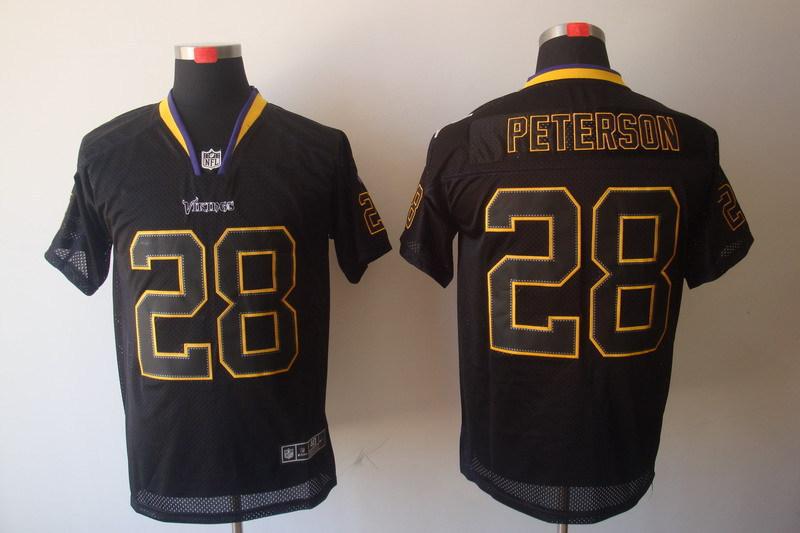 Minnesota Vikings 28 Adrian Peterson Black Nike Elite Champs Tackle Twill Jerseys