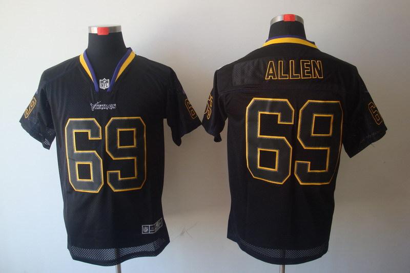 Minnesota Vikings 69 Jared Allen Black Nike Elite Champs Tackle Twill Jerseys