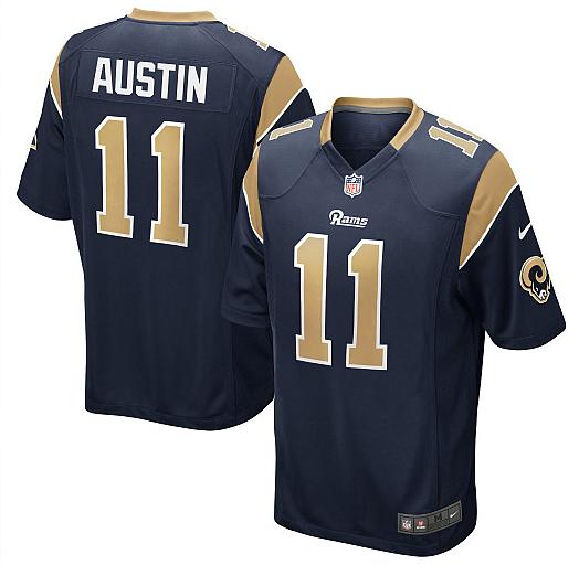 St. Louis Rams 11 Tavon Austin Blue Nike Game Jersey