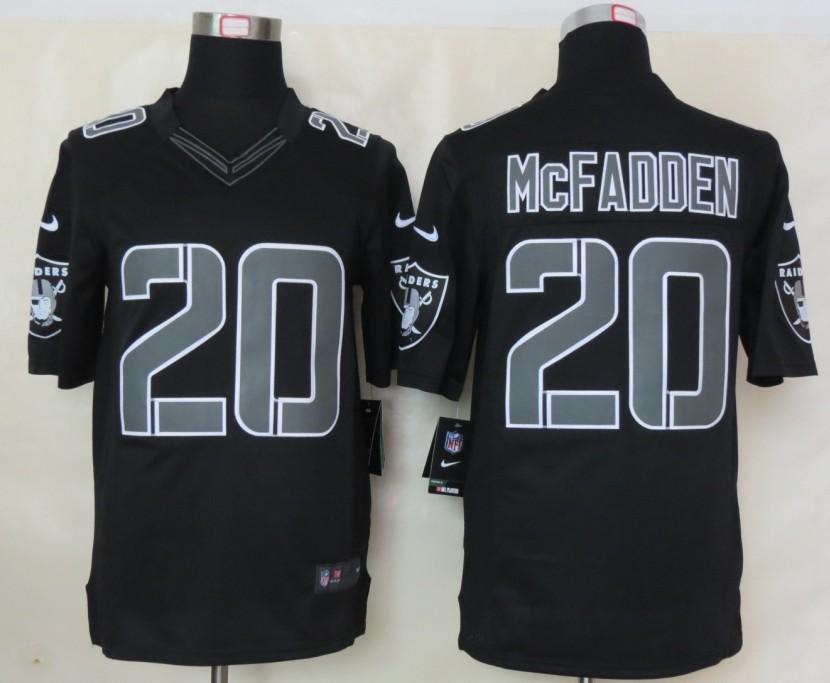 Oakland Raiders 20 McFADDEN Nike Impact Limited Black Jerseys
