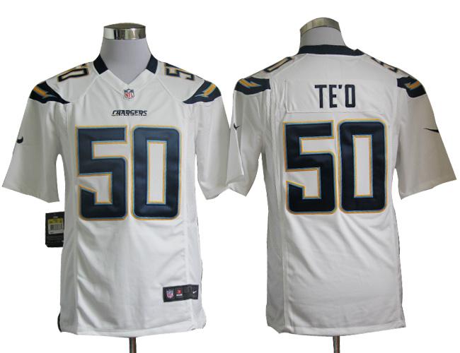 San Diego Chargers 50 Manti Te'o Nike Game White Jersey