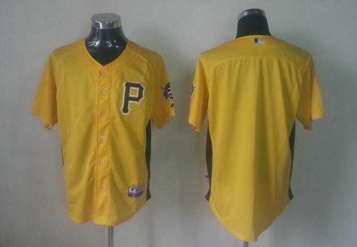 MLB Pittsburgh Pirates Blank yellow Jerseys
