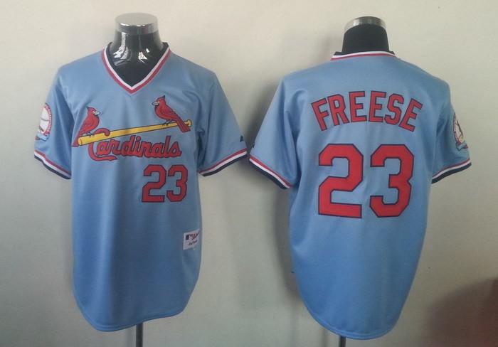 MLB St.Louis Cardinals 23 David Freese Blue Jersey
