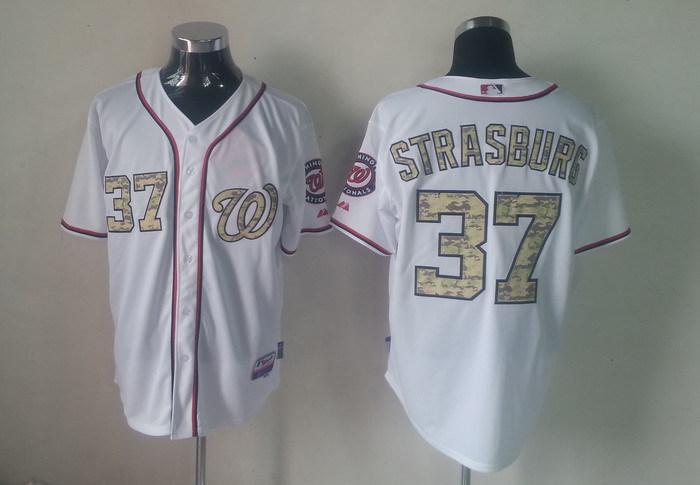 MLB Washington Nationals 37 Stephen Strasburg Camo Jerseys
