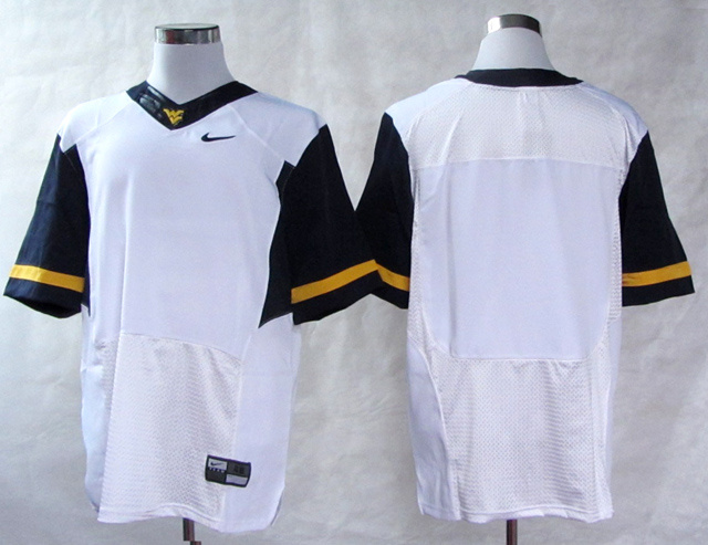 NCAA West Virginia Mountaineers Blank White College Football Elite Jerseys