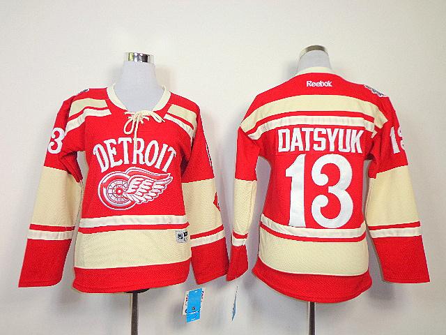 NHL Womens Detroit Red Wings 2014 NHL Winter Classic 13 Pavel Datsyuk Jersey