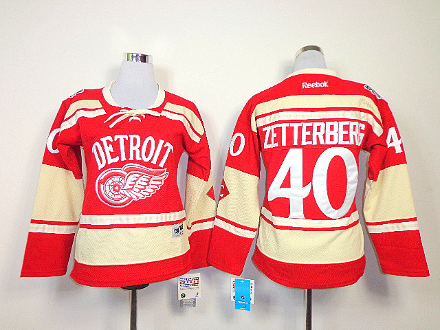 NHL Womens Detroit Red Wings 2014 NHL Winter Classic 40 Henrik Zetterberg Jersey