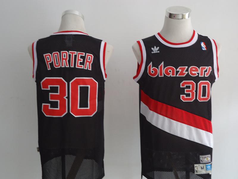 NBA Portland Trail Blazers 30 Porter Black Jersey
