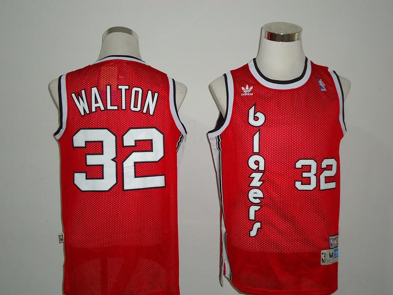 NBA Portland Trail Blazers 32 Walton Red Jersey
