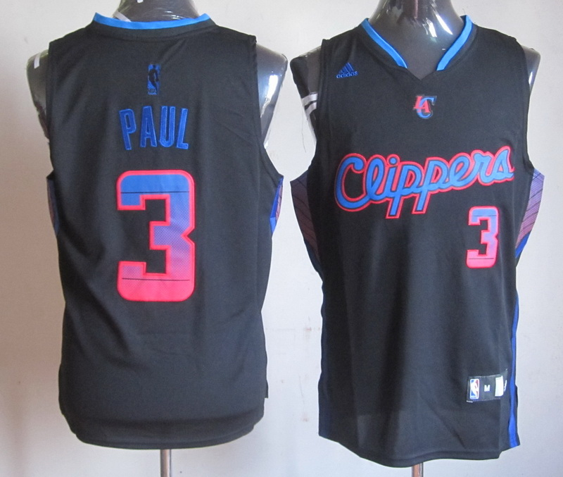 NBA Los Angeles Clippers 3 Chris Paul Black Jersey
