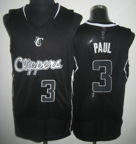 NBA Los Angeles Clippers 3 Chris Paul Black Swingman Alternate Jersey