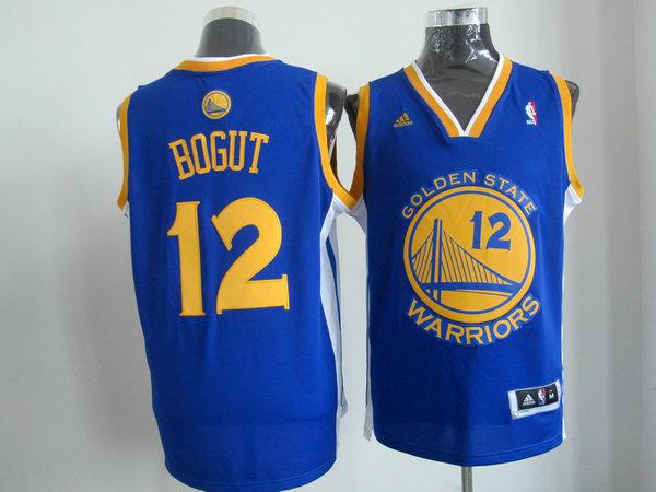 NBA Golden State Warriors 12 Andrew Bogut Blue Jersey