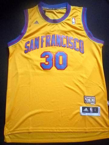 NBA Golden State Warriors 30 Stephen Curry 2013 new golden jersey