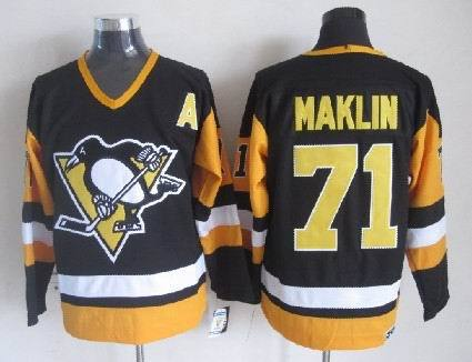 NHL Pittsburgh Penguins 71 Evgeni Malkin Black Jersey
