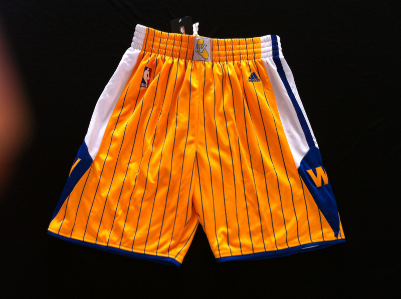 NBA Golden State Warriors 2013 new Golden Shorts