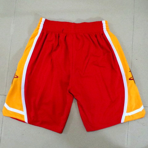 NBA Houston Rockets red with yellow shorts