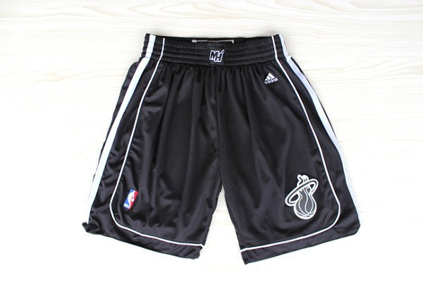 NBA Miami Heat black shorts