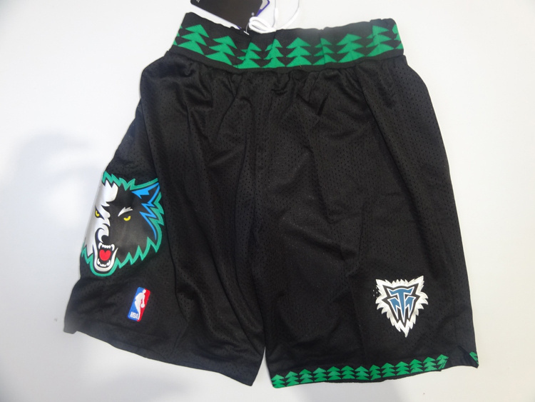 NBA Timberwolves throwback black Shorts