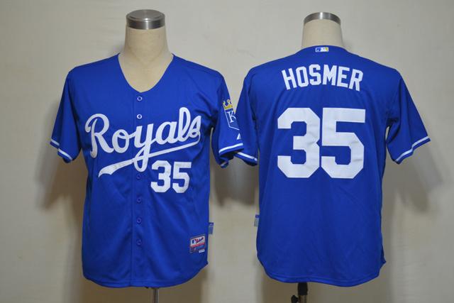 MLB Kansas City Royals 35 Hosmer Blue Jerseys