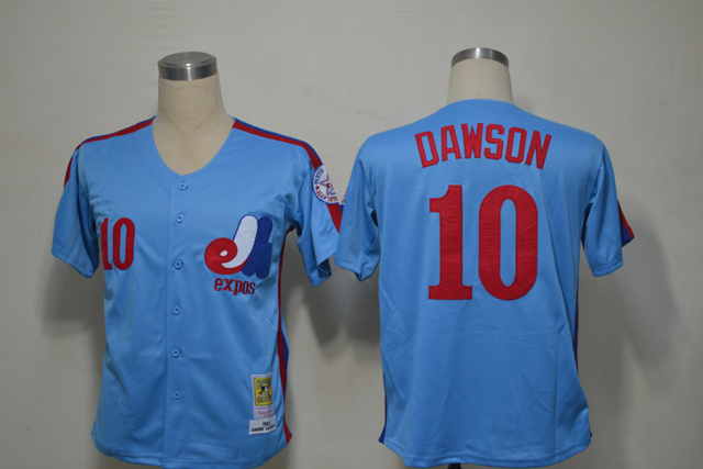 Mlb Montreal Expos 10 Aadre Dawson 1982 Blue Throwback Jerseys