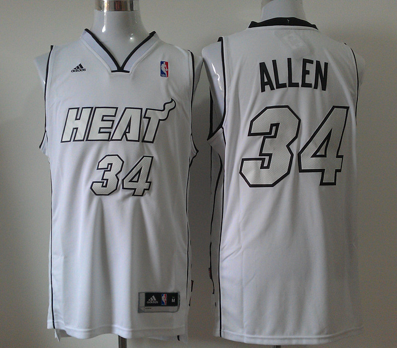 NBA Miami Heat 34 Ray Allen White Swingman Jersey