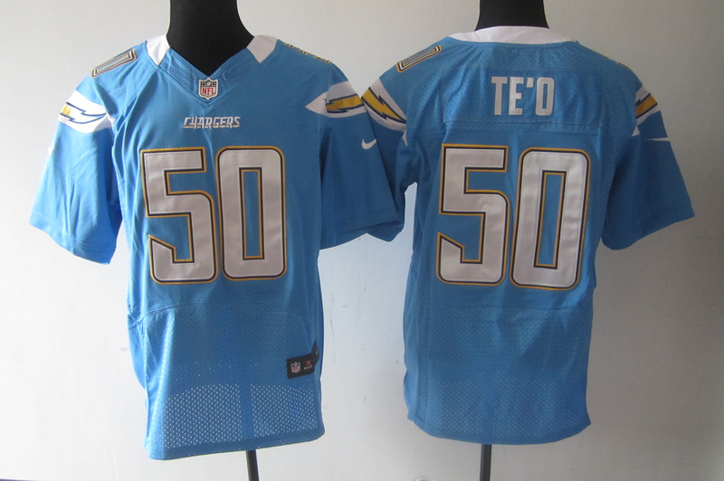 San Diego Chargers 50 Manti Te'o Light Blue Nike Elite Jerseys