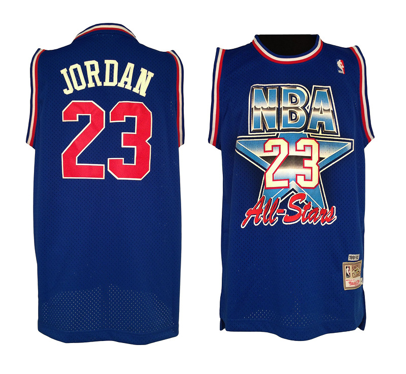 NBA 23 Michael Jordan 1992-1993 all star game blue jersey