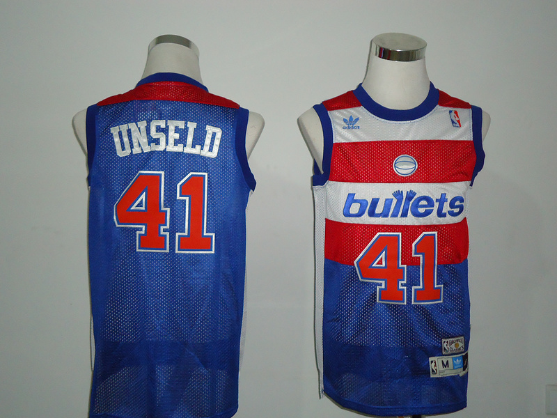 NBA Washington Wizards 41 Unseld blue jerseys