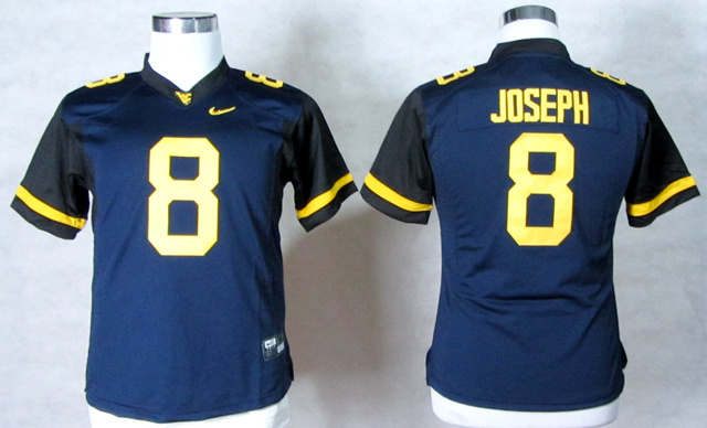 NCAA Womens West Virginia Mountaineers 8 Karl Joseph Blue College Football Elite Jerseys