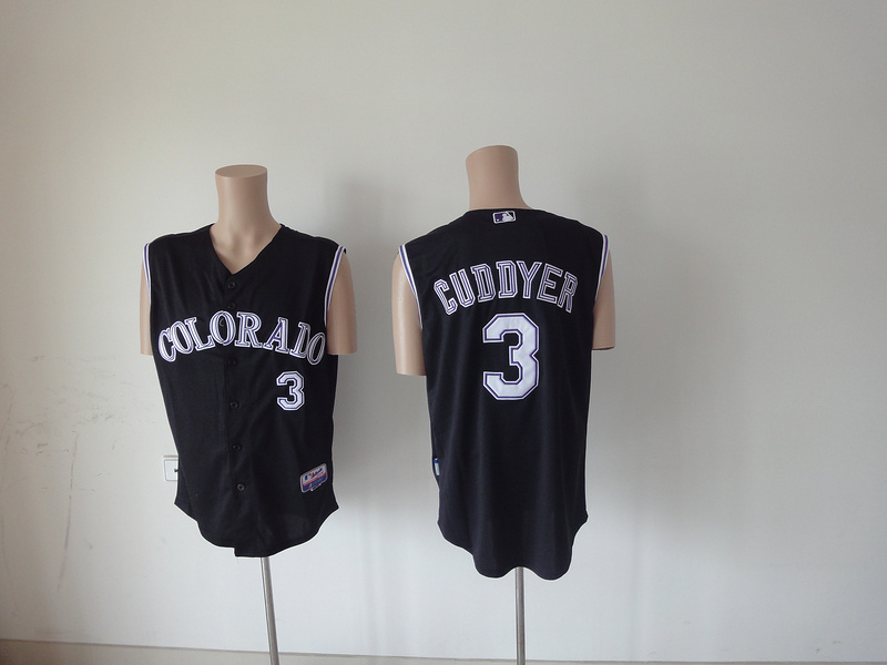 MLB Colorado Rockies 3 Cuddyer black Jerseys