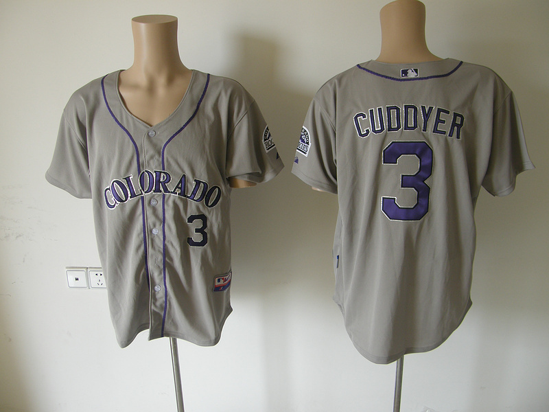 MLB Colorado Rockies 3 Cuddyer grey Jerseys