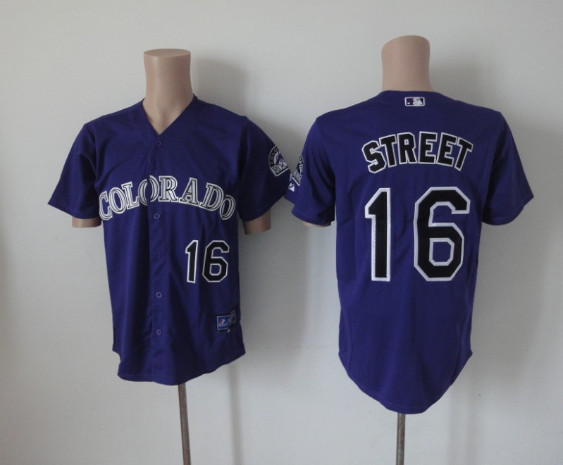 MLB Colorado Rockies 16 Street purple Jerseys