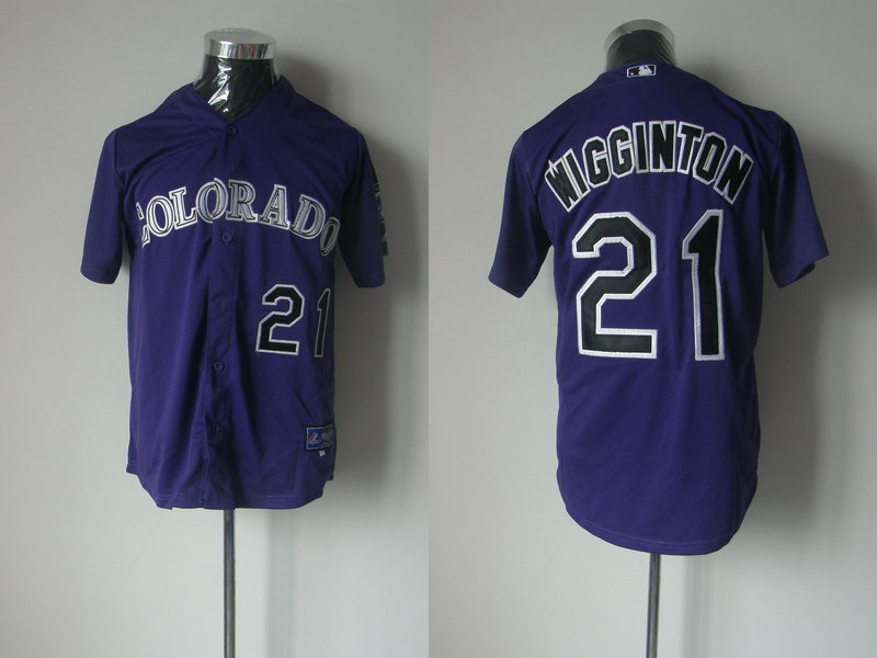 MLB Colorado Rockies 21 Wigginton purple Jerseys