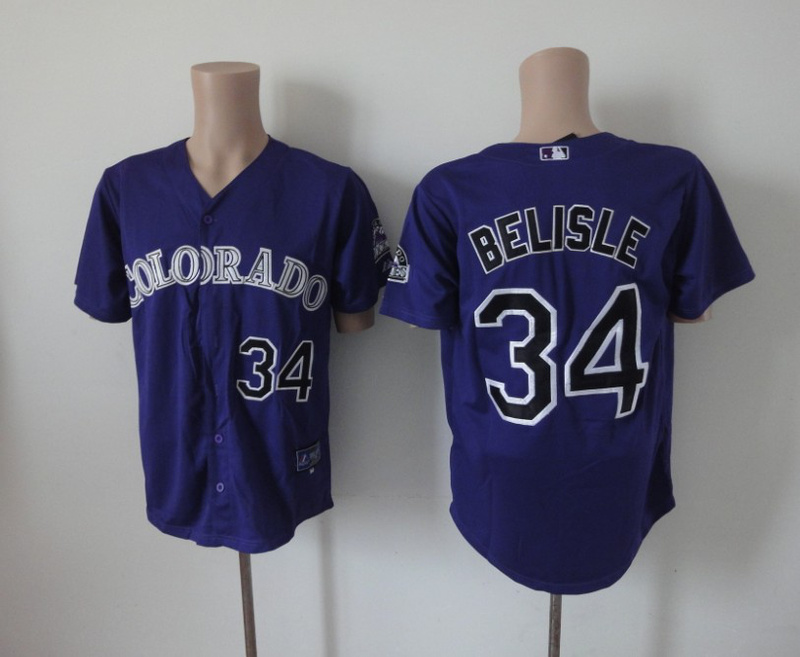 MLB Colorado Rockies 34 Belisle purple Jerseys