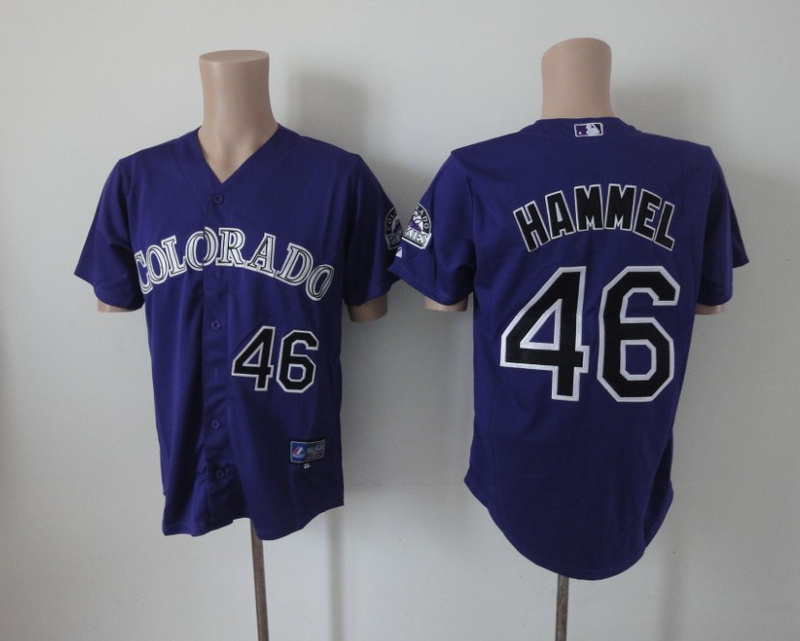 MLB Colorado Rockies 46 Hammel purple Jerseys