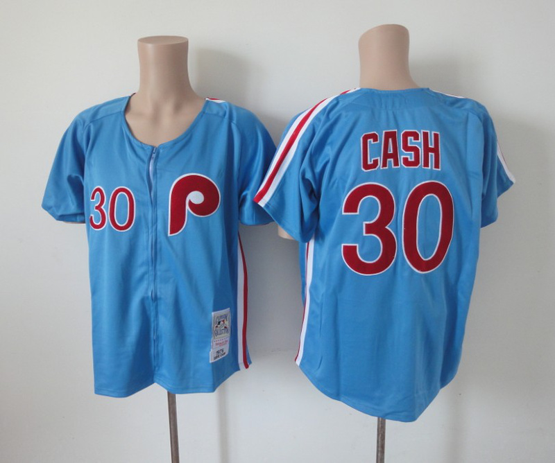 MLB Philadelphia Phillies 30 Cash blue Jerseys